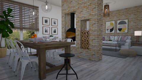 Dividing wall - Living room - by Tuija