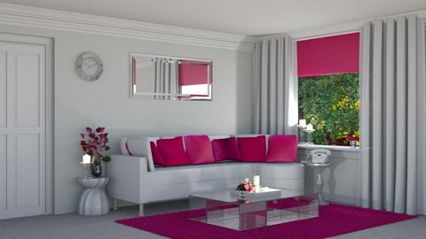 Pink Simplistic - Living room - by creato