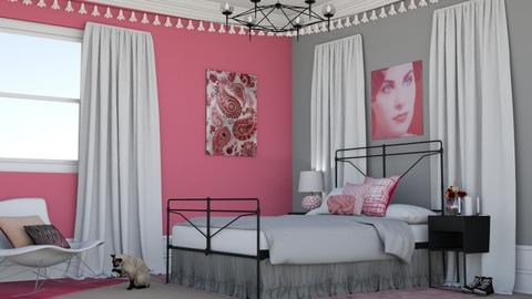 Pink Teen Bedroom - Bedroom - by laurenpoisner