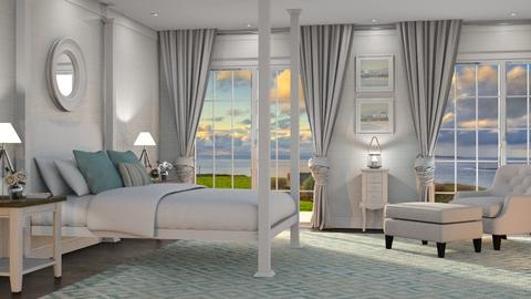 Coastal Cottage - Bedroom - by GraceKathryn