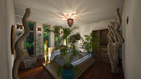 Jungle Bedroom - Bedroom - by Stacy the Little Devil