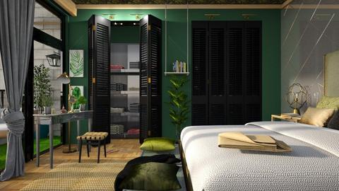 jungle bedroom_1 - by elyssaumber