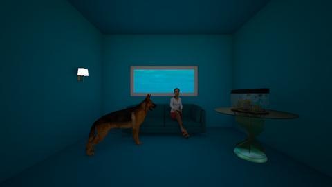 underwater house - Living room - by husky interior designs