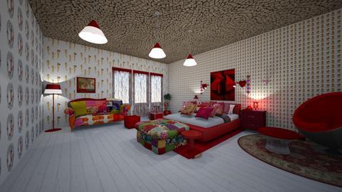 red - Bathroom - by natasa mihajlovic