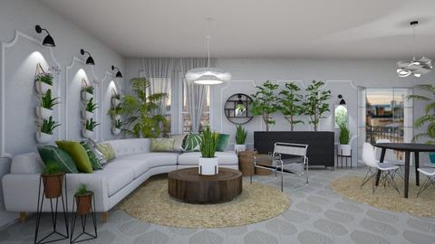 Urban Jungle Living  - Living room - by jjp513