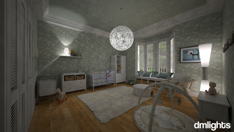 The Stork is coming - Feminine - Kids room - by DMLights-user-982267