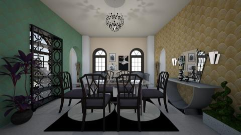 Art Deco Dining Room - by mmt_regina_nox