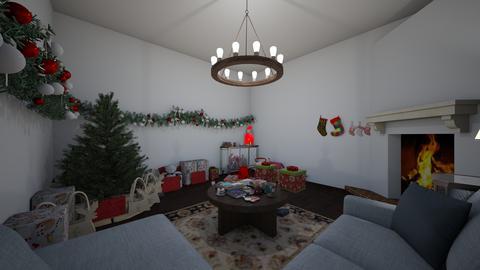 ChristmasMorningTheHouse - Modern - Living room - by jade1111