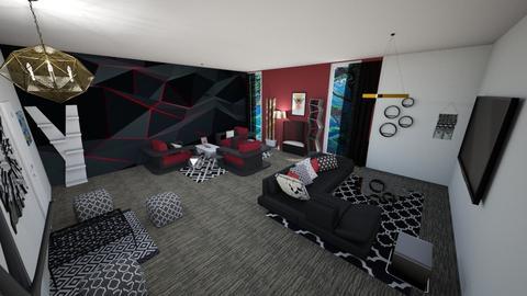 geometric - Living room - by jenniferlzippel