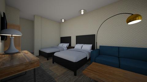 Hilton express - Bedroom - by Ohtoe