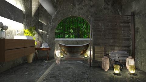 bamboo bathroom - Bathroom - by shelleycaitlin