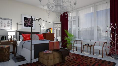 M_ Eclectic bedroom - Bedroom - by milyca8