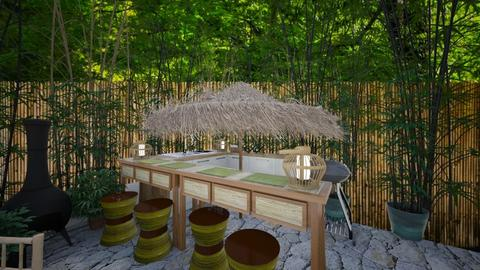 Outdoor Kitchen Bar - Kitchen - by NagromLiart