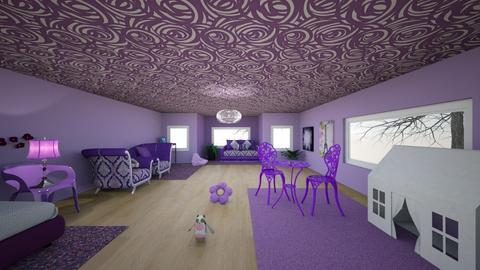 Violet Bedroom - Kids room - by Maia319