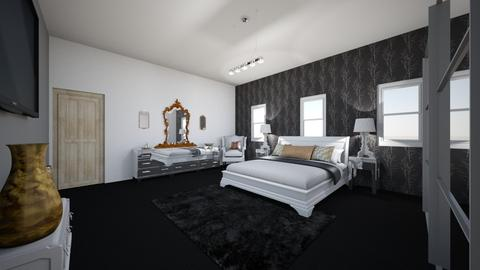 Hint of gold bedroom - Bedroom - by Charrosedriver99