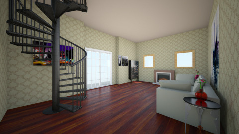 Chic Loft - Feminine - Living room - by Mackenzie Bennett