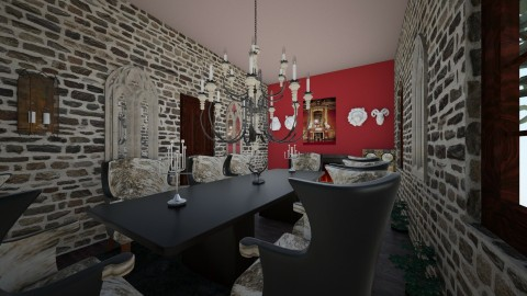 Gothic dining room 1 - Dining room - by CAMPBC31