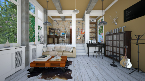 Loft Offiice - Eclectic - Office - by Laurika