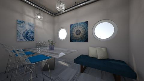 Blue Eye Catcher - Living room - by ckwoodcook23