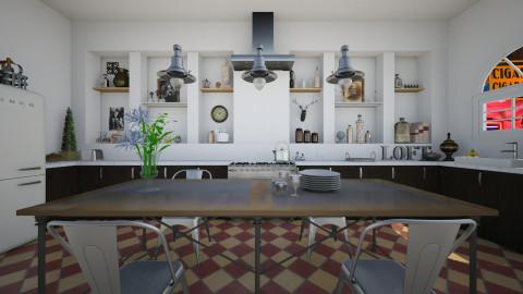 Industrial Kitchen - Kitchen - by sissybee