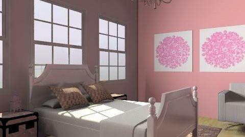 Pink bedroom - Classic - Bedroom - by CattyEl