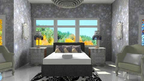 contemporary silver - Classic - Bedroom - by Hayat Ahmed