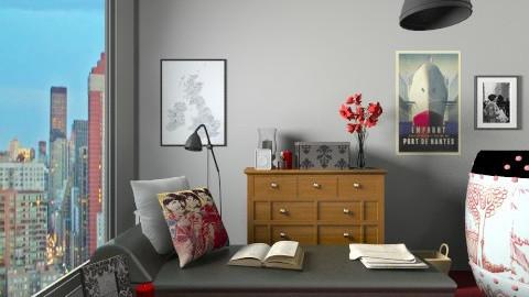 Student Room - Eclectic - Bedroom - by Kelzoid