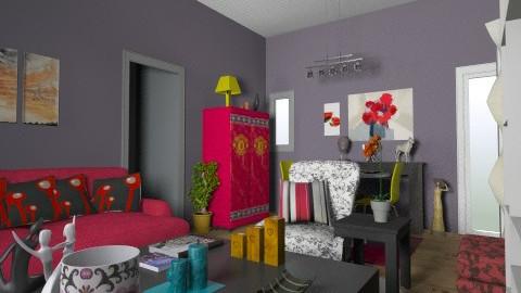 Remodelacion1 SALA HK - Modern - Living room - by elisamaturana