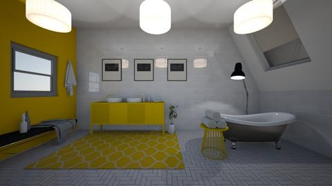 Yellow Bathroom - Modern - Bathroom - by Evie11