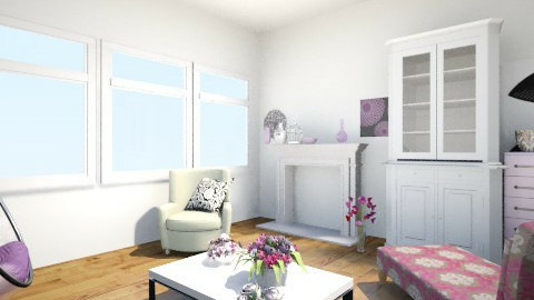 pink living room - Living room - by Miru Motarasu Loquendera
