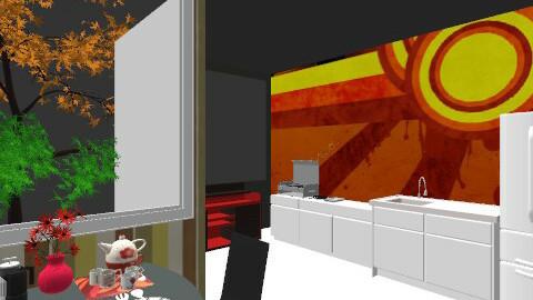 Kitchen 2 - Retro - Kitchen - by luqdragon