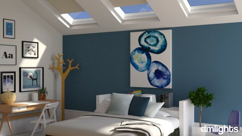 Skylight - Modern - Bedroom - by BrandonThibby