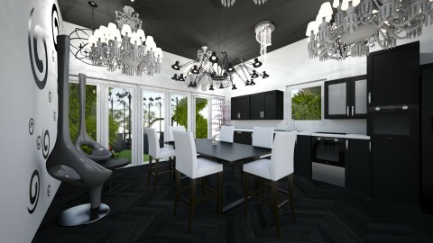 Just black - Modern - Kitchen - by RollPinkEra
