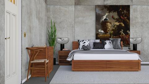 Concrete Bedroom - Rustic - Bedroom - by HenkRetro1960