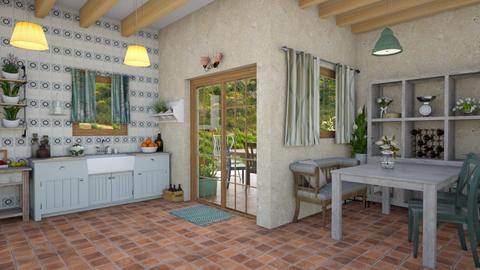 Tuscany kitchen - Dining room - by aurora dobric