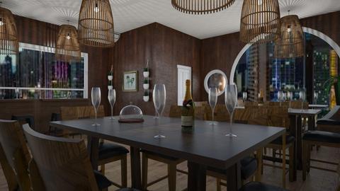 Restaurant 1 - Dining room - by DanielFelipe22