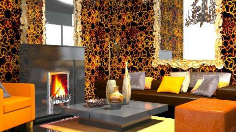 fire - Glamour - Living room - by chania