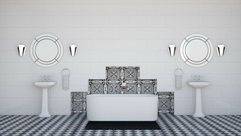 Deco - Retro - Bathroom - by Kathran