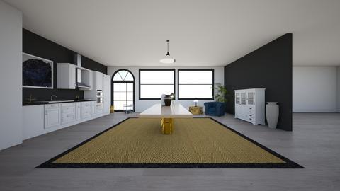 Black and white kitchen - Kitchen - by EllaWinberg