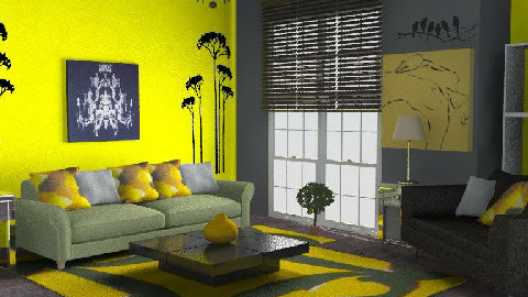 lemon tree - Living room - by evil15