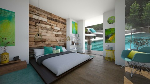fresh and modern - Bedroom - by Aurora Boreas