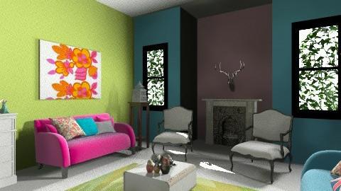 Living Room Two - Feminine - Living room - by Kelzoid