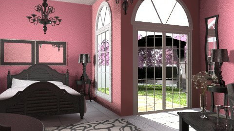 Pretty in Pink - Glamour - Bedroom - by egrimsley