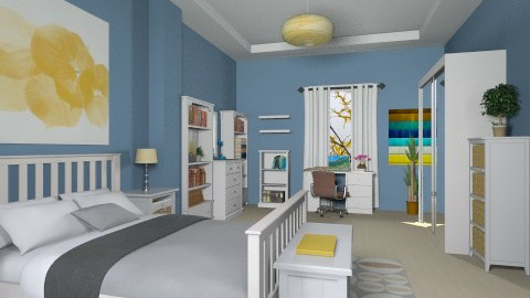 For CHri_A 3 - Eclectic - Bedroom - by Theadora