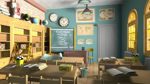 Old style classroom - by Giuiulai
