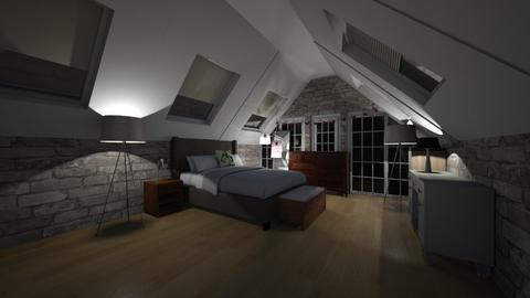attic bedroom - Bedroom - by nuva200429