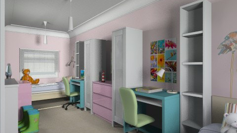 For mcroft - Eclectic - Kids room - by Theadora