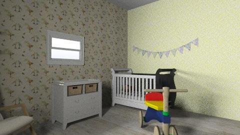 Yoav room 3 - Retro - Kids room - by maayan_rapaport