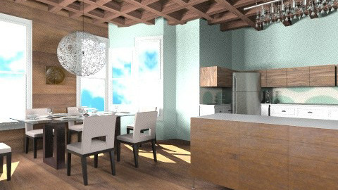 wooden glass - Modern - Kitchen - by macy486