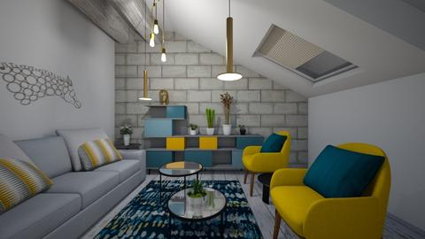 yellow room - Living room - by Zelena_